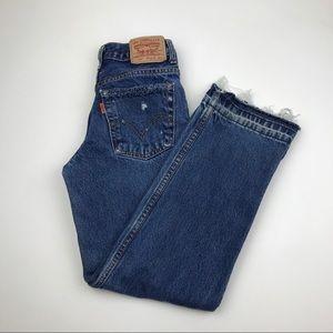 Vintage LEVI'S 550 Orange Tab Custom Jeans 24 x 26